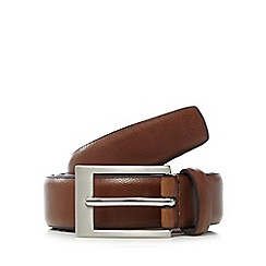 The Collection - Big and tall tan classic leather belt