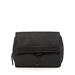 Jeff Banks - Black two compartment hanging wash bag