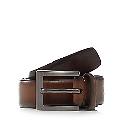 Jeff Banks - Brown leather burnished belt