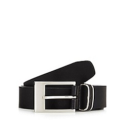 Jeff Banks - Black leather pin buckle belt