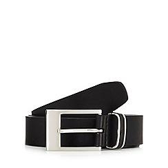 Jeff Banks - Black leather pin buckle belt