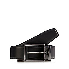 The Collection - Black matte reversible leather belt