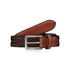 Hammond & Co. by Patrick Grant - Brown leather plait belt