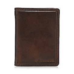 RJR.John Rocha - Dark brown leather wallet