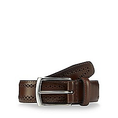 Jeff Banks - Brown perforated leather belt