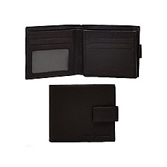 J by Jasper Conran - Black leather tab wallet