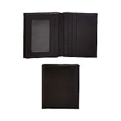 J by Jasper Conran - Black leather trifold wallet