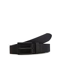 Red Herring - Black leather skinny belt