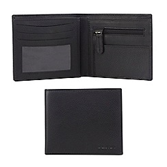 Dents - Black RFID grained leather wallet