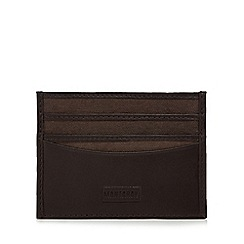 Mantaray - Dark brown leather credit card holder
