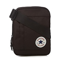 Converse - Black logo applique cross body bag