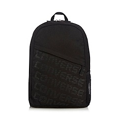 Converse - Black logo print backpack