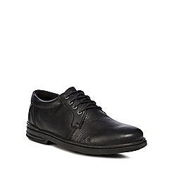 Hush Puppies - Black leather 'George Hanston' lace up shoes