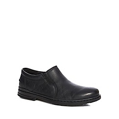 Hush Puppies - Black leather 'Milton Hanston' slip on shoes