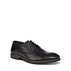 Hush Puppies - Black leather 'Carlos Luganda' derby shoes