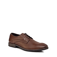 Hush Puppies - Brown leather 'Carlos Luganda' Derby shoes