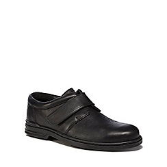 Hush Puppies - Black leather 'Jeremy Hanston' shoes
