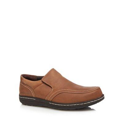 Hush Puppies - Brown 'Vindo victory' slip-on shoes