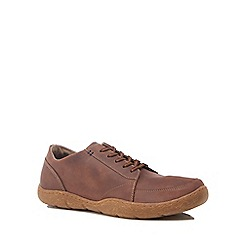Hush Puppies - Brown leather 'Furman Sway' lace up shoes