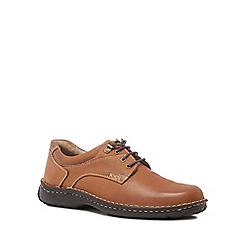 Hush Puppies - Tan leather 'Geography' trainers