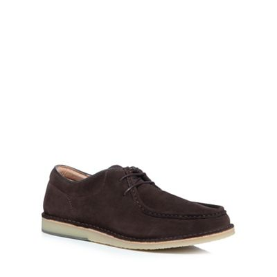 Hush Puppies - Brown suede 'Hancock' slip-on shoes