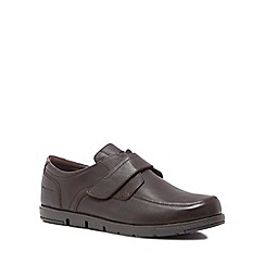Hush Puppies - Brown leather 'Novo' trainers