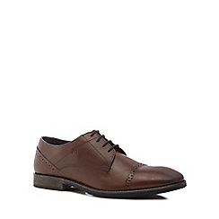 Hush Puppies - Brown leather 'Craig Luganda' Derby shoes