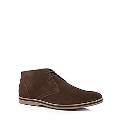 Hush Puppies - Brown suede 'Spencer' chukka boots