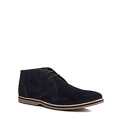 Hush Puppies - Navy suede 'Spencer' chukka boots