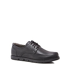 Hush Puppies - Black leather 'Viana' lace up shoes