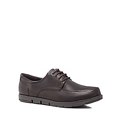 Hush Puppies - Brown leather 'Viana' lace up shoes