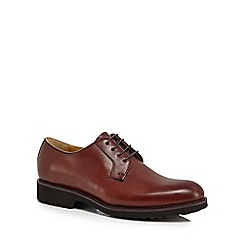 Steptronic - Dark red leather 'Ilford' Derby shoes