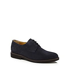 Steptronic - Navy suede 'Kingston' Derby shoes