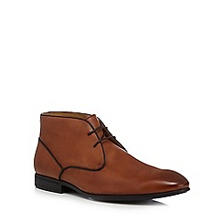 Steptronic - Tan leather 'Trent' chukka boots
