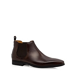 Steptronic - Brown leather 'Hogan' Chelsea boots