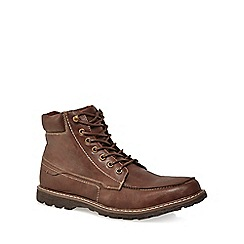Red Herring - Brown leather 'Nova' lace-up boots