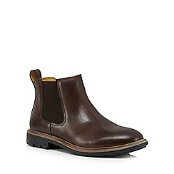 Steptronic - Brown leather 'Lord' Chelsea boots