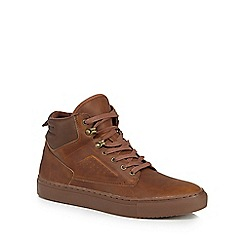 Red Herring - Tan 'Seb' high top trainers