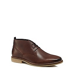 RJR.John Rocha - Brown leather 'Snowdonia' desert boots