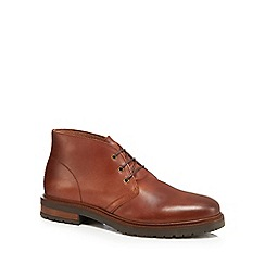 RJR.John Rocha - Brown leather 'Coolmaine' chukka boots