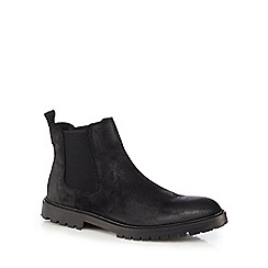 RJR.John Rocha - Black leather 'Taurus' Chelsea boots