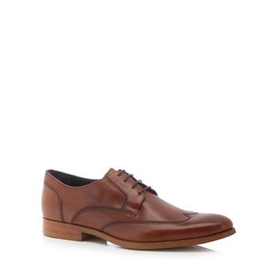 J by Jasper Conran - Tan leather 'Milan' wingtip Derby shoes