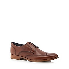 J by Jasper Conran - Tan leather 'Milan' wingtip Derby shoes