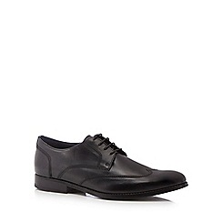 J by Jasper Conran - Black leather 'Milan' wingtip Derby shoes