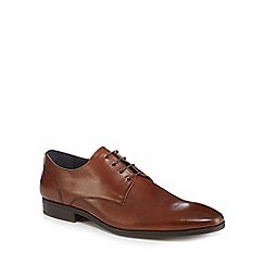 J by Jasper Conran - Dark tan leather 'Monza' Derby shoes