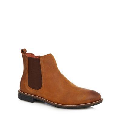 Mantaray Tan Leather Kiev Chelsea Boots