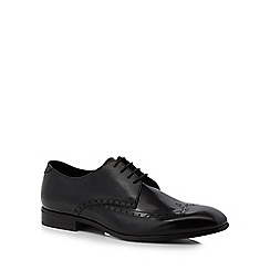 Hammond & Co. by Patrick Grant - Black leather 'Whitby' Derby shoes