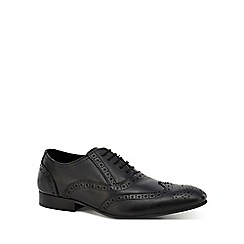 Jeff Banks - Black leather 'Sheldon' brogues
