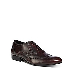 Jeff Banks - Dark red leather 'Sheldon' brogues