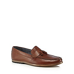 Red Herring - Brown leather 'Gravity' loafers